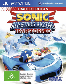 Box art for the game Sonic & All-Stars Racing Transformed