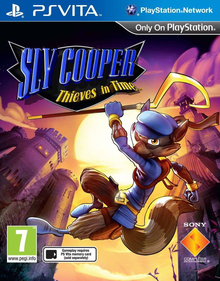 Box art for the game Sly Cooper: Thieves in Time