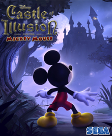 Box art for the game Disney Castle of Illusion starring Mickey Mouse