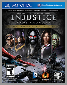 Box art for the game Injustice: Gods Among Us Ultimate Edition