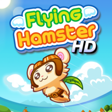 Box art for the game Flying Hamster  HD