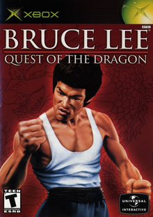 Box art for the game Bruce Lee: Quest of the Dragon