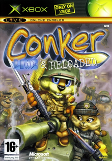 Box art for the game Conker: Live & Reloaded