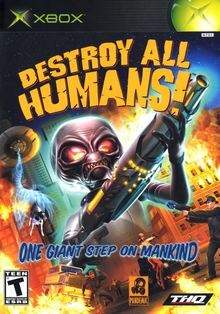 Box art for the game Destroy All Humans!