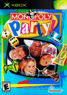 Box art for the game Monopoly Party
