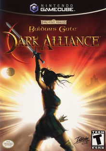 Box art for the game Baldur's Gate: Dark Alliance
