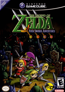 Box art for the game The Legend of Zelda: Four Swords Adventures