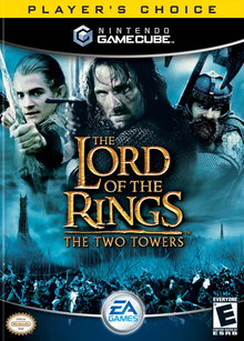 Box art for the game The Lord of the Rings: The Two Towers