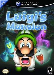 Box art for the game Luigi's Mansion