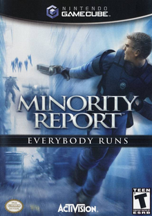 Box art for the game Minority Report