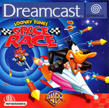 Box art for the game Looney Tunes: Space Race