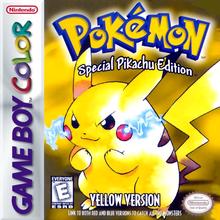 Capa do jogo Pokemon Yellow Version: Special Pikachu Edition