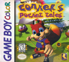 Box art for the game Conker's Pocket Tales