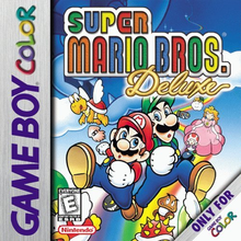 Box art for the game Super Mario Bros. Deluxe