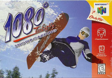 Box art for the game 1080° Snowboarding