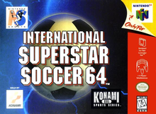 Box art for the game International Superstar Soccer 64