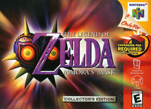 Box art for the game The Legend of Zelda: Majora's Mask
