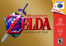 Box art for the game The Legend of Zelda: Ocarina of Time