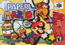 Box art for the game Paper Mario