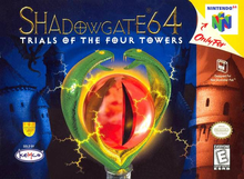 Box art for the game Shadowgate 64: Trials of the Four Towers