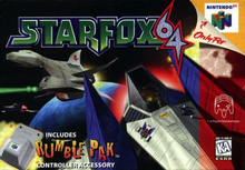 Box art for the game Star Fox 64