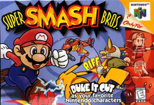 Box art for the game Super Smash Bros.