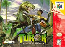 Box art for the game Turok: Dinosaur Hunter
