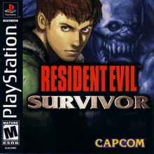 Box art for the game Resident Evil: Survivor