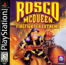 Box art for the game Rosco McQueen: Firefighter Extreme