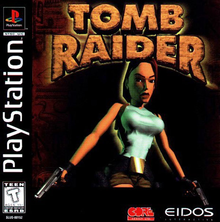 Box art for the game Tomb Raider -- Featuring Lara Croft