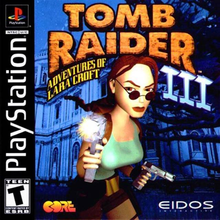 Box art for the game Tomb Raider III: Adventures of Lara Croft