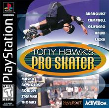 Box art for the game Tony Hawk's Pro Skater