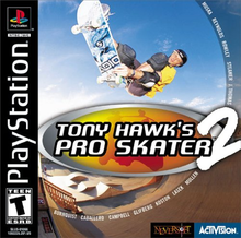 Box art for the game Tony Hawk's Pro Skater 2