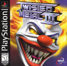 Box art for the game Twisted Metal 3