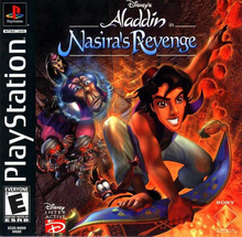 Box art for the game Aladdin in Nasira's Revenge