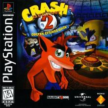 Box art for the game Crash Bandicoot 2: Cortex Strikes Back