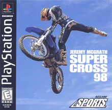 Box art for the game Jeremy McGrath Supercross '98