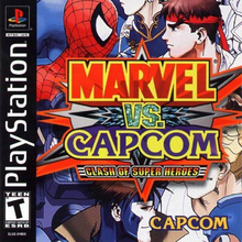 Box art for the game Marvel vs. Capcom: Clash of Super Heroes