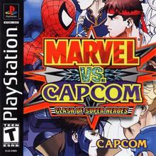 Capa do jogo Marvel vs. Capcom: Clash of Super Heroes