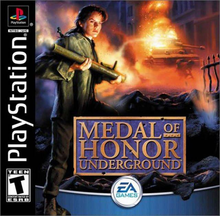 Box art for the game Medal of Honor Underground