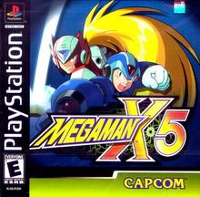 Box art for the game Mega Man X5