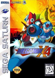 Box art for the game Mega Man X4