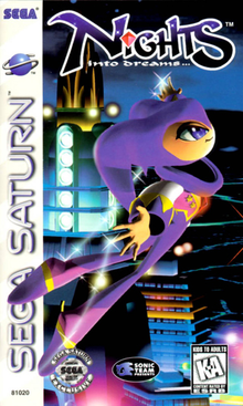 Box art for the game NiGHTS into Dreams...