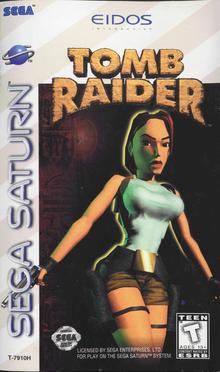 Box art for the game Tomb Raider -- Featuring Lara Croft
