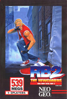 Box art for the game Real Bout Fatal Fury 2: The Newcomers
