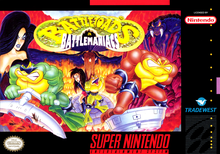 Box art for the game Battletoads in Battlemaniacs