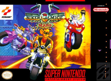 Box art for the game Biker Mice from Mars