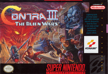 Box art for the game Contra III: The Alien Wars