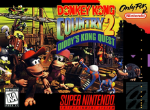 Box art for the game Donkey Kong Country 2: Diddy's Kong Quest