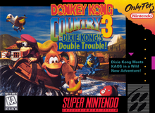 Box art for the game Donkey Kong Country 3: Dixie Kong's Double Trouble